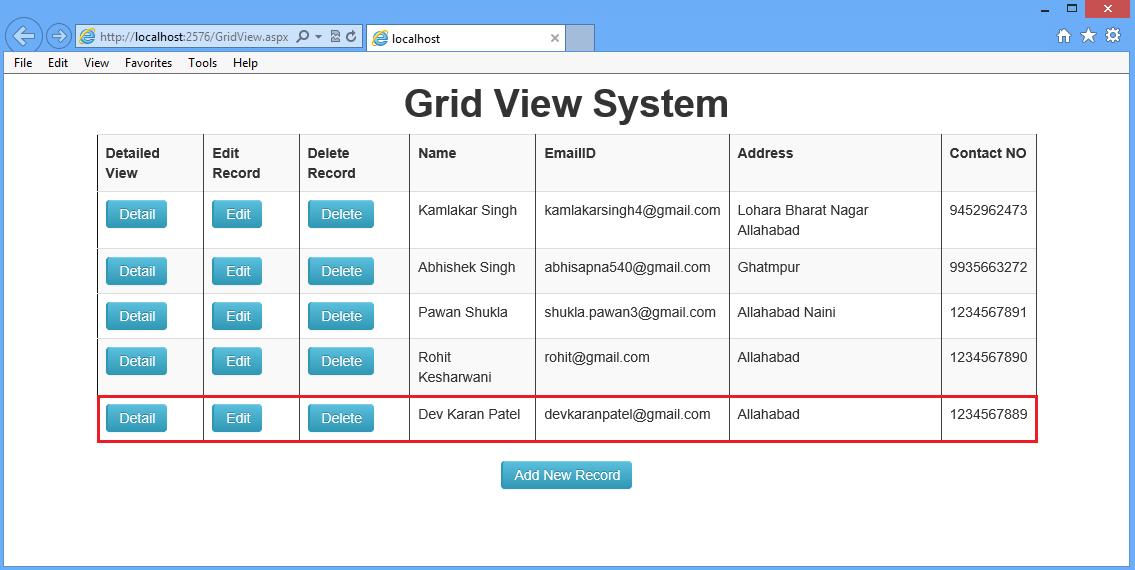 آموزش GridView و jQuery در ASP.Net