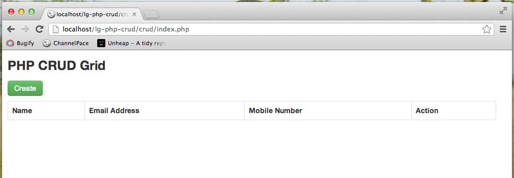 نمایش اطلاعات جدول در php