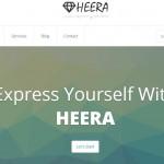 قالب سایت رایگان HEERA ، واکنشگرای 4 ستونه