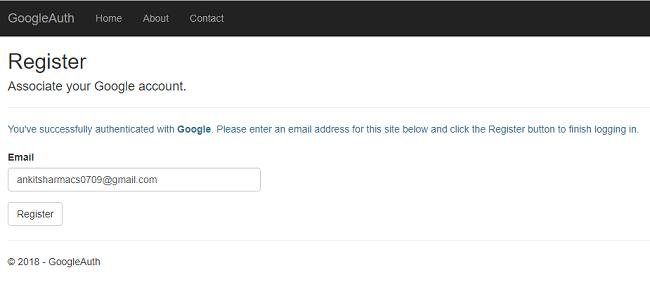 احراز هویت با استفاده از Google