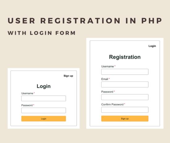 نحوه ثبت نام و ورود به سایت با php
